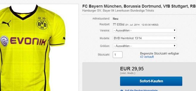 Borussia Dortmund Trikot kaufen
