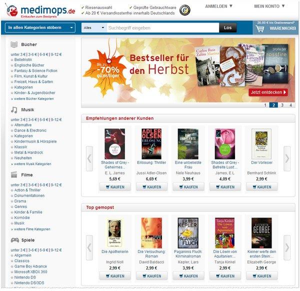 Gebrauchte Bücher bei Medimops