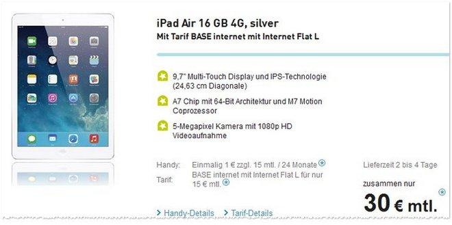 iPad Air mit Vertrag