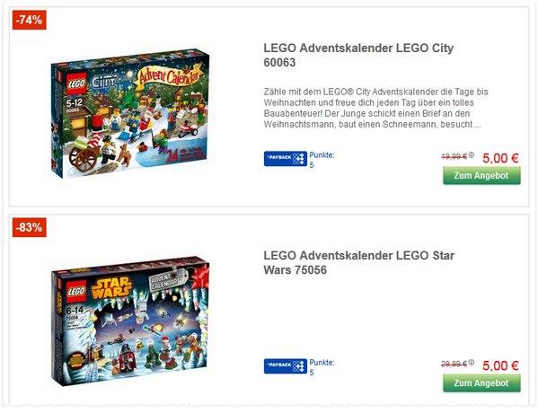 LEGO Adventskalender-Ausverkauf bei GALERIA Kaufhof