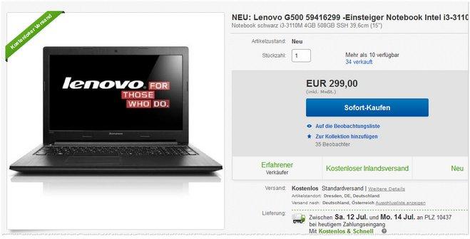 Lenovo G500 Preis