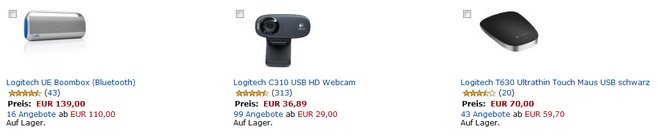Logitech-Aktion bei Amazon
