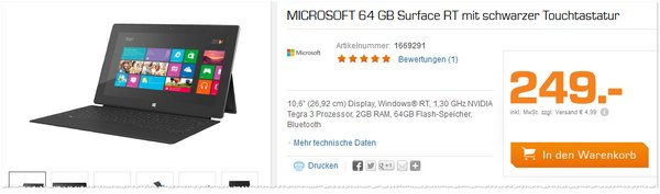 Microsoft Surface 64 GB RT