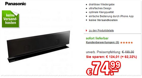 Panasonic Airplay Lautsprecher