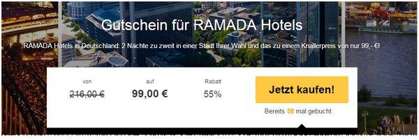 Ramada Hotel-Gutschein bei Travelbird
