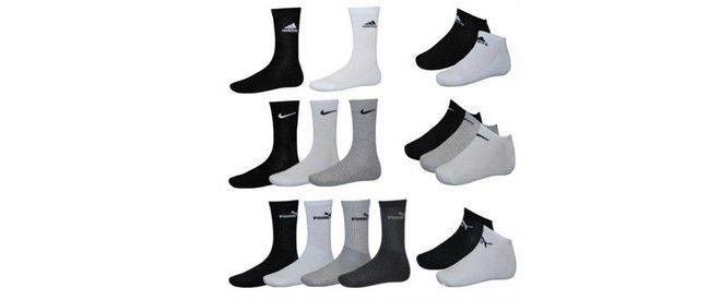 Socken von Adidas, Puma, Nike