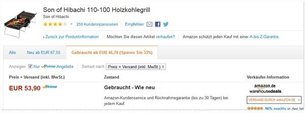 Son of Hibachi: Amazon Warehouse Deals Angebot für 53,90 €