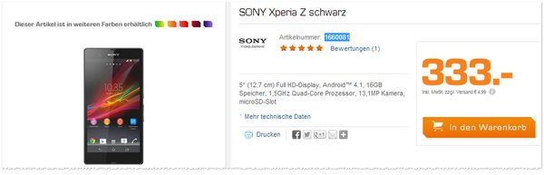 sony xperia z ultra b ware ohne vertrag 239 90. Black Bedroom Furniture Sets. Home Design Ideas