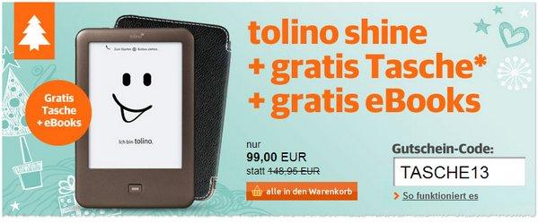 Tolino Shine Aktion mit Gratis-Tasche bei Buch.de