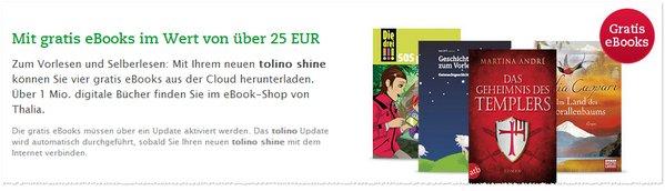 Gratis-E-Books für den Tolino Shine bei Thalia