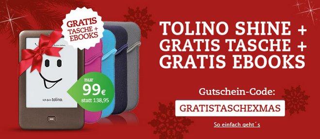 Tolino Shine günstig kaufen mit Gratis-Tasche