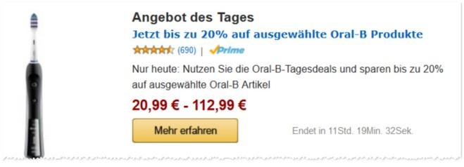 Amazon Oral-B Outlet-Preise