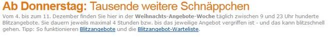 Amazon Weihnachtsangebote 2014