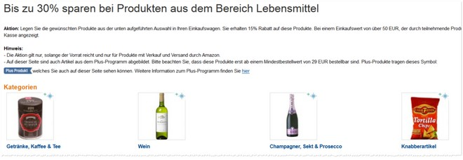 B-Ware-Lebensmittel Amazon