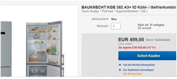 Bauknecht Geheimverkauf bei eBay
