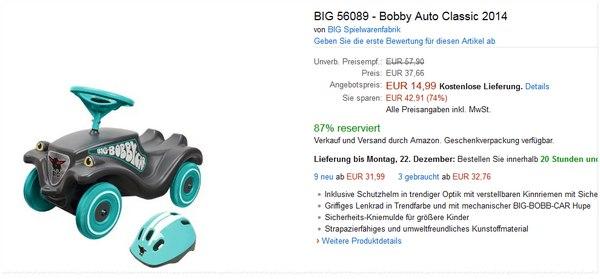 BIG Bobby Car als Blitzangebot bei Amazon
