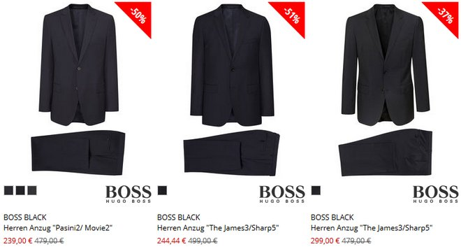 BOSS Black Anzüge günstig bei Engelhorn