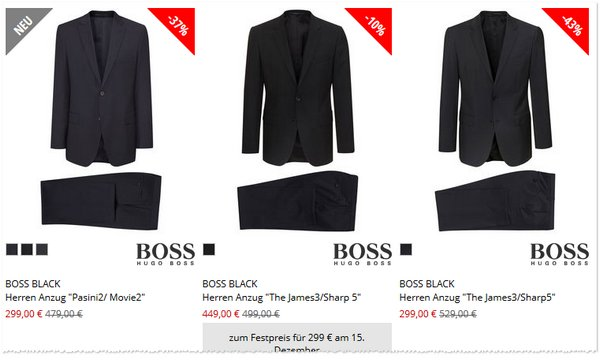 Boss Black Anzug günstiger kaufen bei Engelhorn