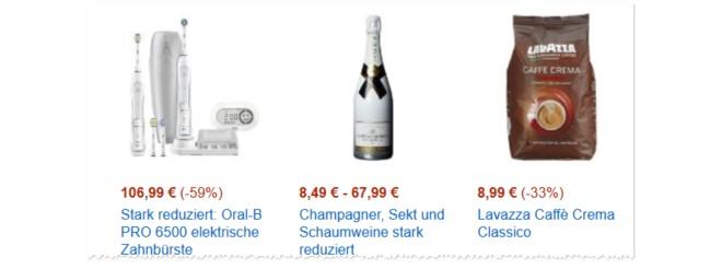 Champagner als Tagesangebot bei Amazon