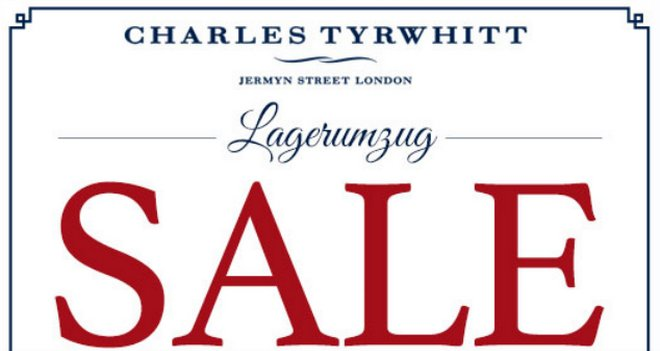 Charles Tyrwhitt Lagerumzug Sale