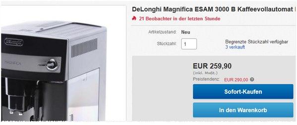 DeLonghi Magnifica ESAM 3000.B