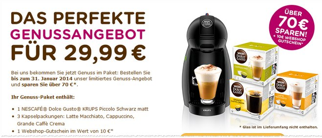 Nescafe Dolce Gusto Angebot