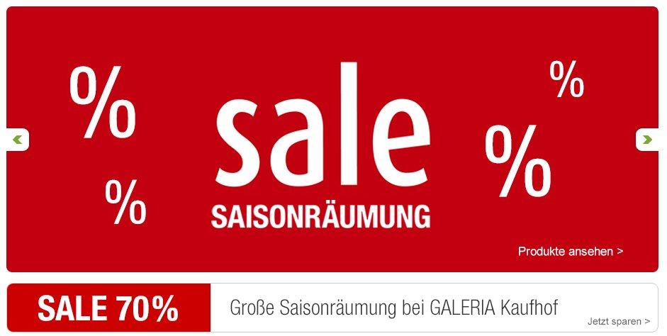 Galeria Kaufhof Winterschlussverkauf