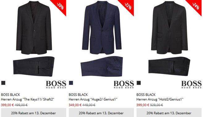 Hugo Boss Anzüge günstig