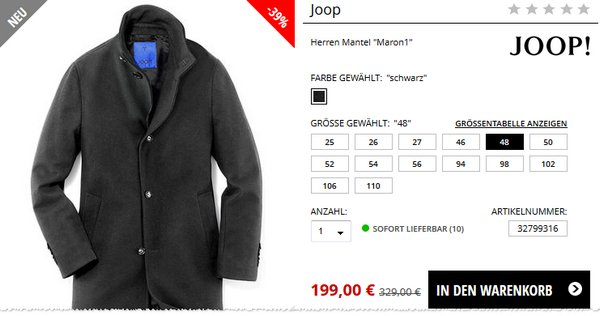 Joop! Mantel Maron 1
