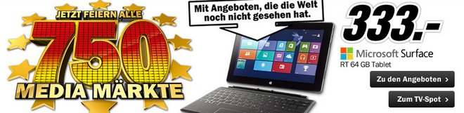 Microsoft Surface RT 64GB mit Touchtastatur