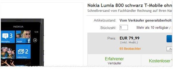 Nokia Lumia 800 vertragsfrei