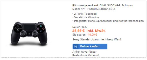 Sony PS4 Dual Shock Wireless Controller