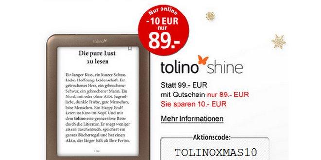 Tolino Shine in der Weltbild Gutschein-Aktion