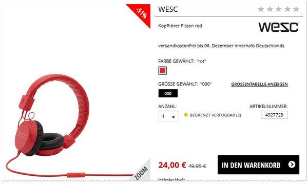 Wesc Piston Red bei Engelhorn