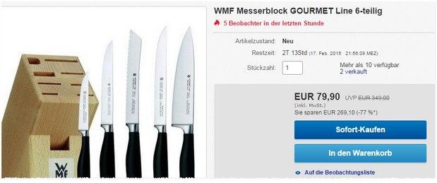 WMF Messerblock Gourmet Line für 79,90 €