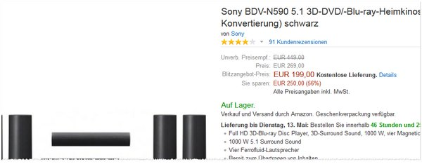 Sony BDV-N590 günstig kaufen