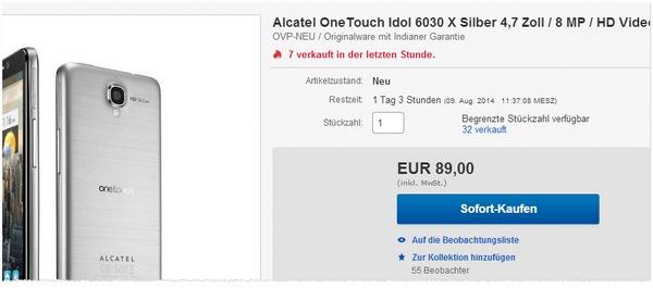 Alcatel One Touch Idol 6030X ohne Vertrag kaufen