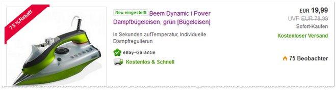 Beem Dynamic i Power Dampfbügeleisen