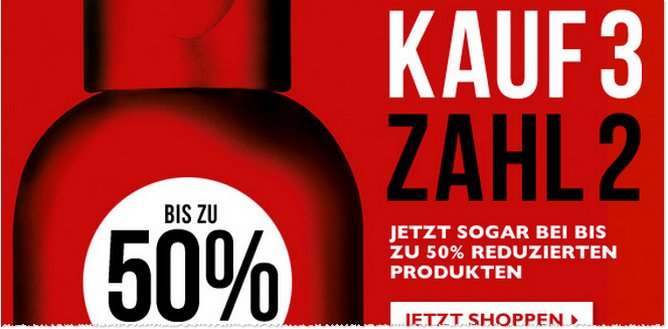 Body Shop: Kauf 3 zahl 2 Aktion