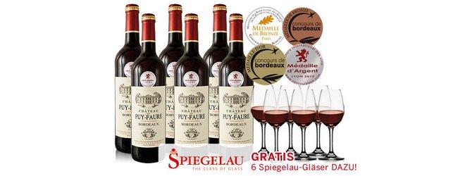 Bordeaux Gläser gratis