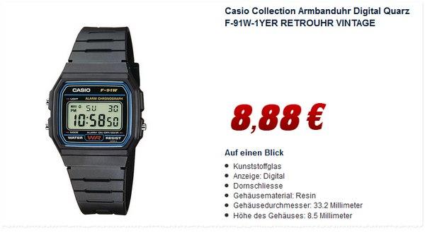 Casio F91W1YER