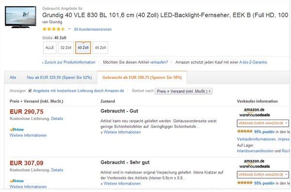 Grundig 40 VLE 830 BL Outlet-Preis