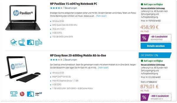 Hewlett-Packard-Ausverkauf Angebot