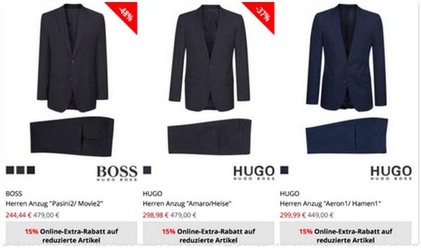 Hugo Boss Anzüge reduziert bei Engelhorn