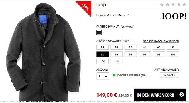 JOOP! Mantel bei Engelhorn