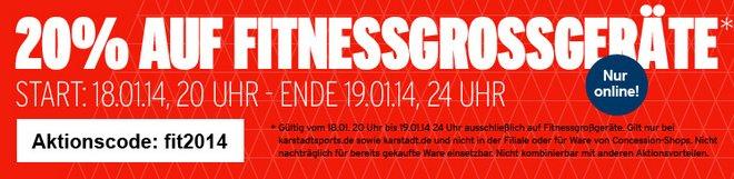 Karstadt Fitnessgroßgeräte günstiger