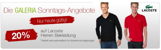 Lacoste Sale Angebot