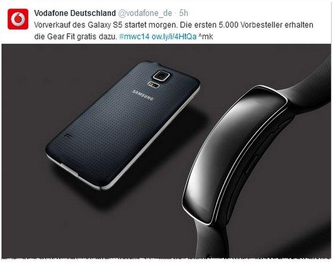 Samsung Galaxy S5 Vorverkauf Vodafone