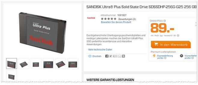 SanDisk Ultra Plus SSD Saturn