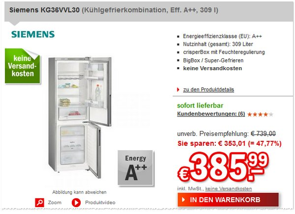 Siemens KG36VVL30